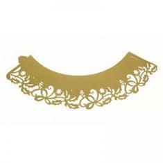 PME Ozdobný lem na košíčky zlatý vianočný 12ks