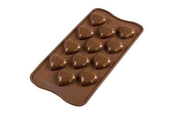 Silikomart 3D Silikonová forma na čokoládu – Srdce