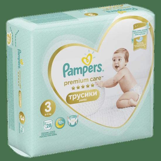 Pampers plenice Premium Care Pants 3 (6-11 kg) 28 kosov