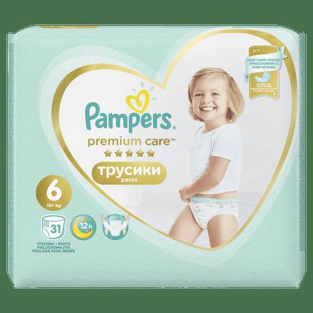 Pampers pelene gaćice Premium Pants 6 Extra Large, 31 komada.