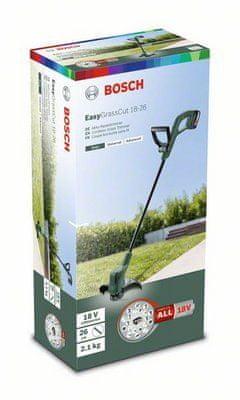 Bosch Akumulátorová strunová sekačka EasyGrassCut 18-260 (2 akumulátorové články)