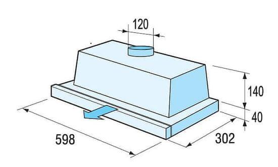 Mora OT 651 W vestavná digestoř - použité