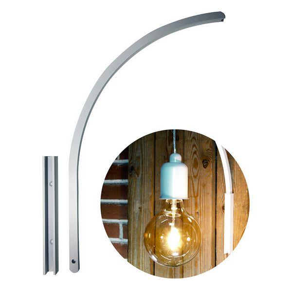 DybergLarsen Stojan pro nástěnnou lampu Wall it, 39 cm, bílá