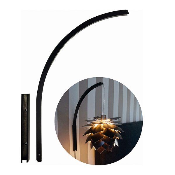 DybergLarsen Stojan pro nástěnnou lampu Wall it, 39 cm, černá