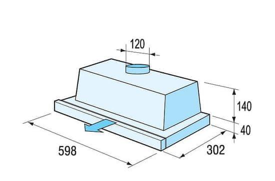 Mora OT 651 X vestavná digestoř