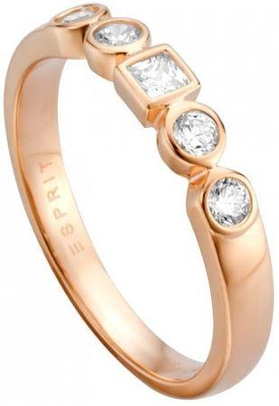 Esprit Srebrny pierścionek z kryształkami Przepływ ESRG005213 (obwód 54 mm) srebro 925/1000