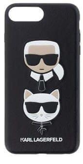 Karl Lagerfeld Karl and Choupette Hard Case Black pro iPhone 7 Plus / 8 Plus KLHCI8LKICKC