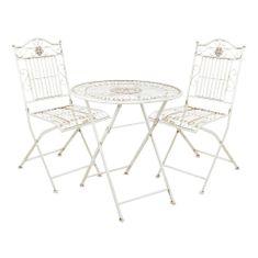 Butlers TERRACE HILL Balkónový set 2 ks židle a 1 ks stůl - krémová