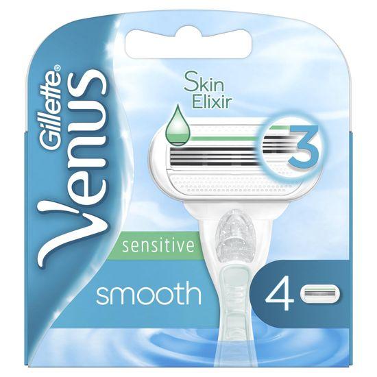 Gillette Venus Smooth Sensitive holiace hlavice 4 ks