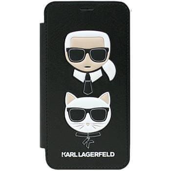 Karl Lagerfeld Karl and Choupette Book Pouzdro Black pro iPhone X KLFLBKPXKICKC