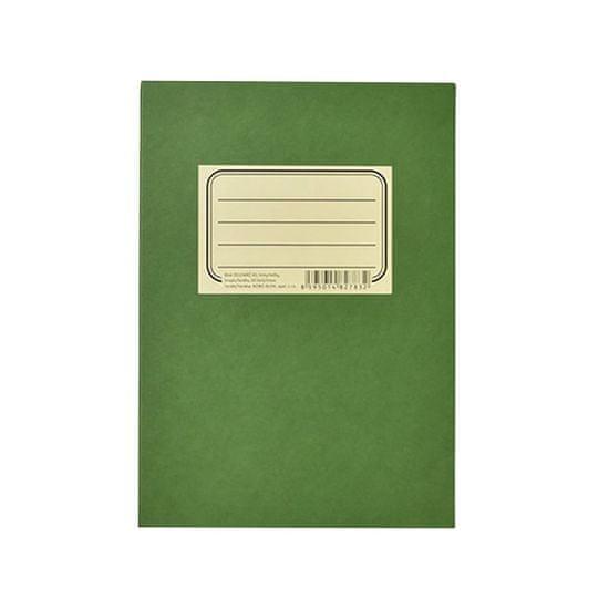 Bobo Blok poznámkový lepený Zelenáč A5 linky/tečky, 50 listů