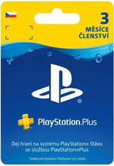 Sony PlayStation Plus 3 měsíce - Dárková karta, CZ