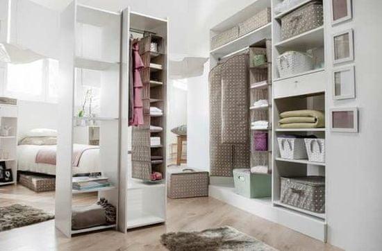 Compactor wiszący organizer do szafy Rivioli, 6 półek, brązowy