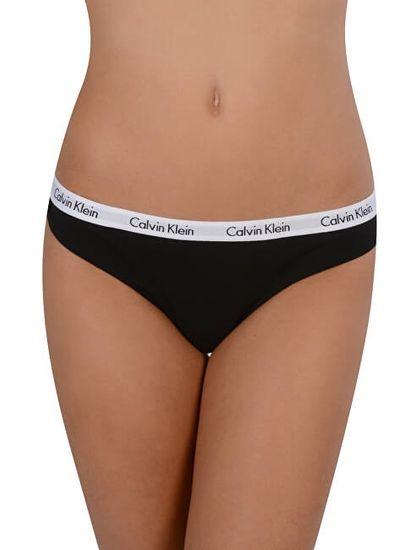 Calvin Klein 3 PACK - dámská tanga QD3587E-001
