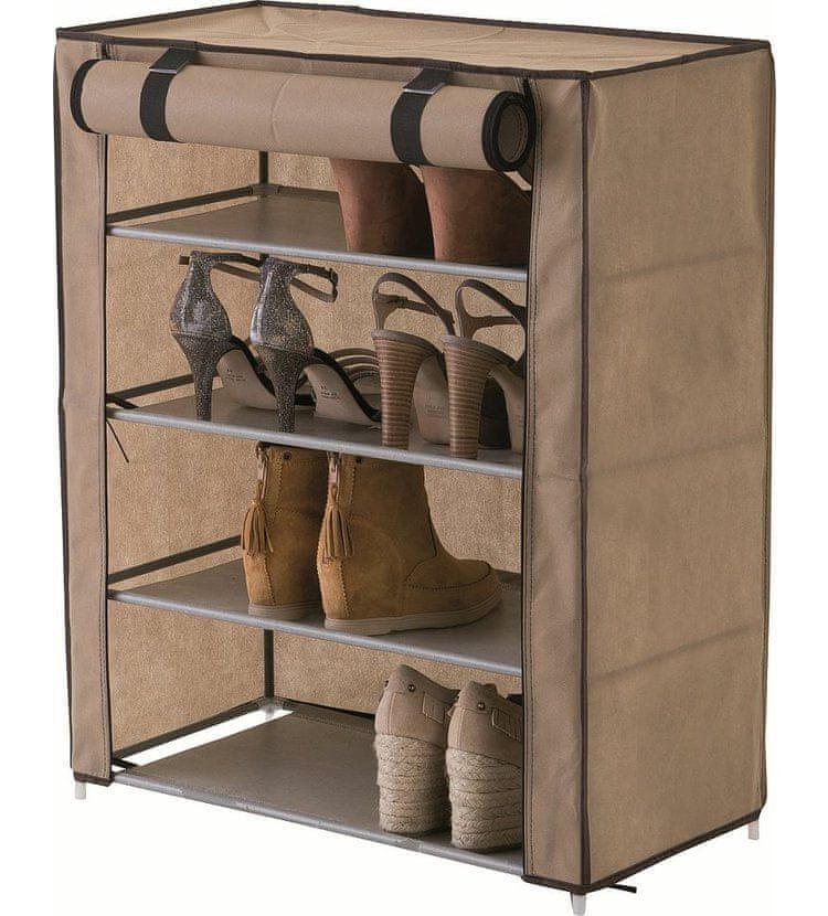 Compactor Oxford textilní botník - 4 patra, béžový
