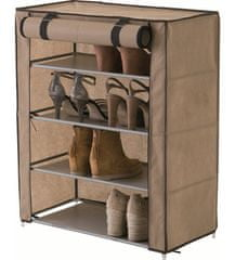Compactor Oxford textilný botník - 4 poschodia, béžový