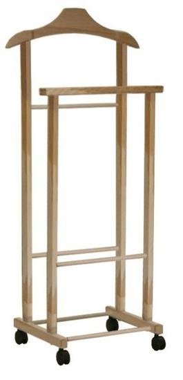 Compactor wieszak Hector 2 podwójny, na kółkach, jasne drewno