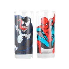 Sklenice Spider-Man a Venom (set 2 ks)