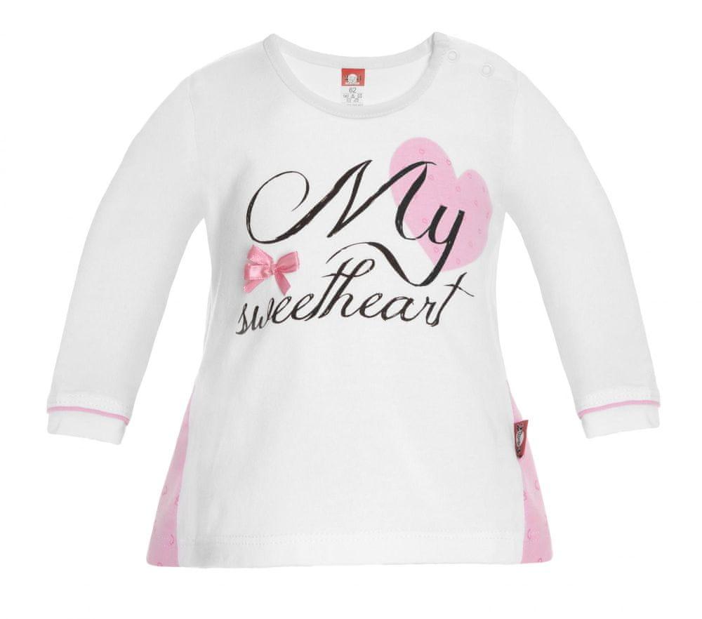 2be3 dievčenské tričko Sweetheart 74 biele
