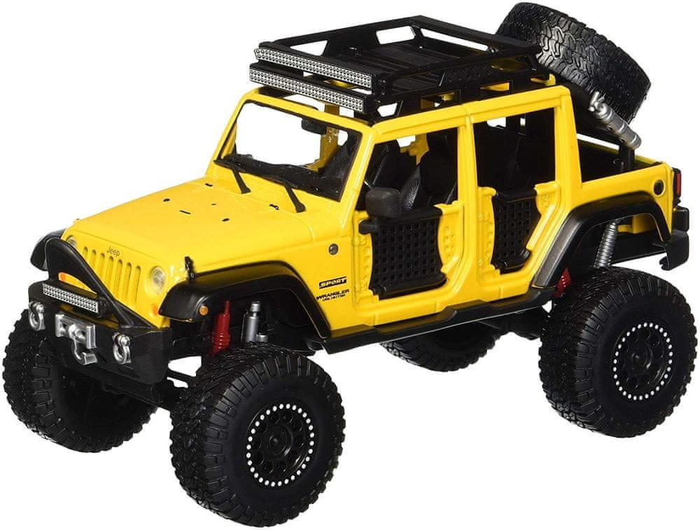 Maisto Jeep Wrangler Unlimited - žlutá