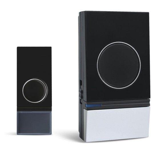 Zvonek bezdrátový Solight 1L29, do zásuvky, 200m - černý/stříbrný