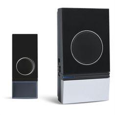 Solight bezdrátový zvonek, do zásuvky, 200m, černý, learning code