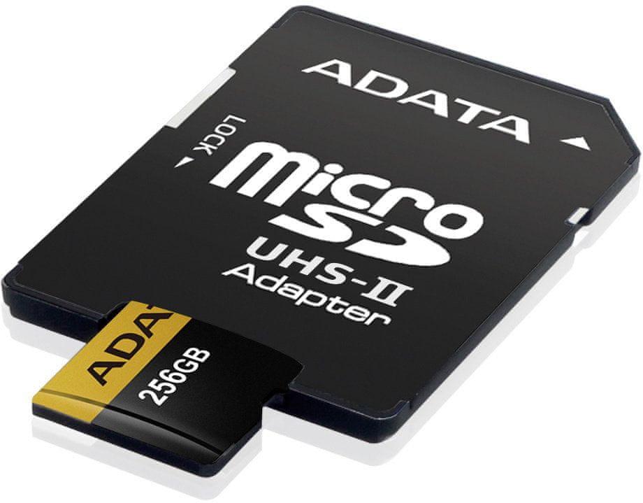 Adata microSDXC Premier One 256GB UHS-II U3 + SD adaptér (AUSDX256GUII3CL10-CA1)