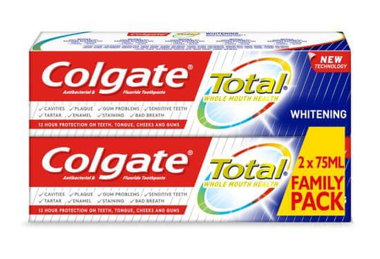 Colgate Total whitening zubná pasta 2 ks