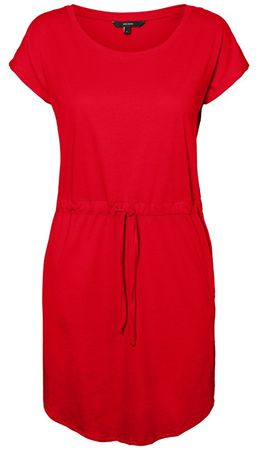 Vero Moda Sukienka damska April SS Short Dress GA Color Chiński Red (rozmiar S)