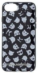 Karl Lagerfeld Choupette All Over TPU Case Black pro iPhone 7 / 8 KLHCI8CAOB