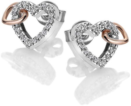 Hot Diamonds Trblietavé náušnice s pravým diamantom Flora DE606 striebro 925/1000