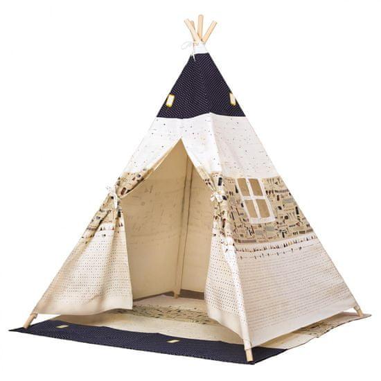 Bino namiot tipi Stan TeePee, beżowo-niebieski