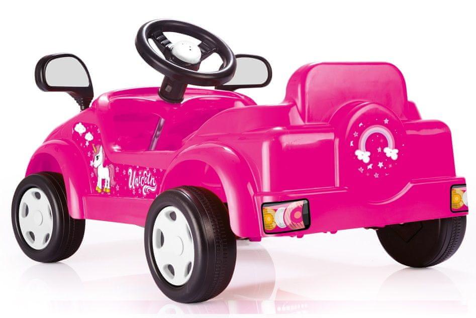 DOLU Dětské šlapací auto jednorožec