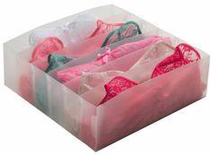 Compactor Optimo transparentní organizér do zásuvky na spodní prádlo, 6 přihrádek
