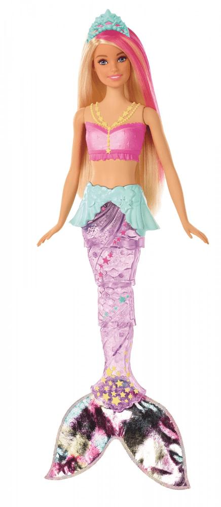 Mattel Barbie Svítící mořská panna s pohyblivým ocasem - běloška - rozbaleno