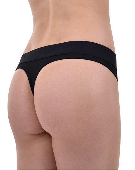 Calvin Klein Dámské kalhotky Tonal Logo Thong QF4942E-001 Black
