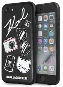 Karl Lagerfeld Pins Hard Case Black pro iPhone 7/8/SE 2020 KLHCI8PIN