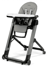 Peg Perego stol za hranjenje Siesta Follow Me, Ambiance Grey 2021, svetlo siv