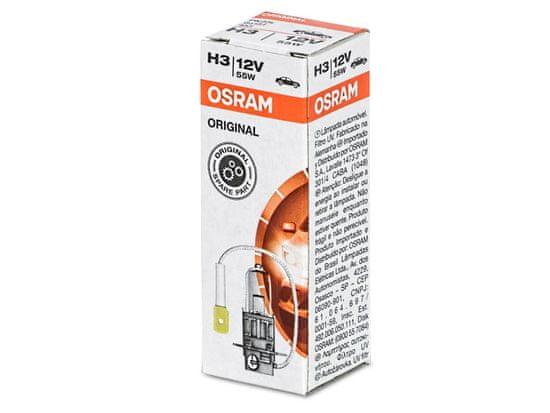 Osram Žárovka typ H3, 12V, 55W, ORIGINAL LINE, Halogenové, krabička, 1ks