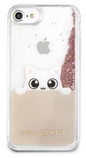 Karl Lagerfeld Peek and Boo TPU Glitter Pouzdro Gold pro iPhone 7/8/SE 2020 KLHCI8PABGNU