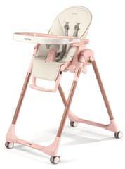 Peg Perego stol za hranjenje Prima Pappa Follow Me, Mon Amour 2021, belo roza