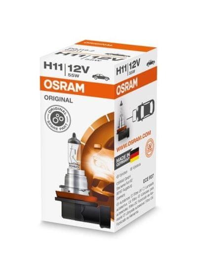 Osram Žárovka typ H11, 12V, 55W, ORIGINAL LINE, Halogenové, krabička, 1ks.