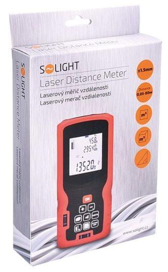 Solight Profesionální laserový měřič vzdálenosti 0,05 - 80 m (DM80) - rozbaleno