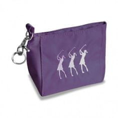 Girls Golf Embroidered Handbag Violet
