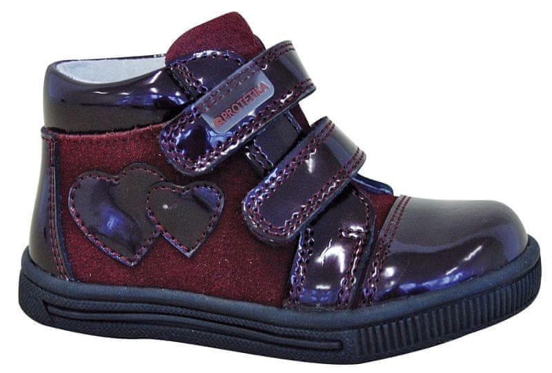 Protetika dívčí kotníkové boty Dalma 26 fialová