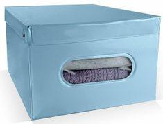 Compactor Nordic skládací úložný box PVC se zipem, světle modrý