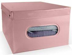 Compactor Nordic skládací úložný box PVC se zipem, růžový (Antique)