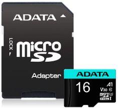 Adata MicroSDHC Premier Pro 16GB + adaptér (AUSDH16GUI3V30S-RA1)