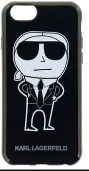 Karl Lagerfeld K-Team Black TPU Pouzdro pro iPhone 6/6S KLHCP6HTKKA