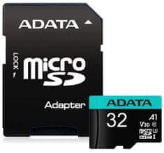 Adata MicroSDHC Premier Pro 32GB + adaptér (AUSDH32GUI3V30SA1-RA1)